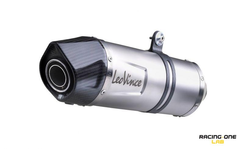 Exhaust muffler silencer LEOVINCE LV ONE EVO stainless steel end cap in  carbon homologated ECE EURO4 with db-killer Leovince